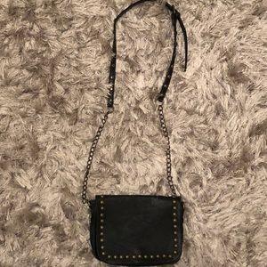 studded black crossbody bag